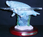 Swimming Manatees Sculpture