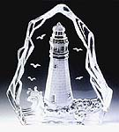 Lighthouse Leaded Crystal Sculpture