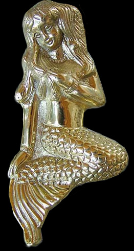 Brass mermaid door knocker manatees unlimited - Mermaid door knocker ...